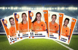 Voetbalplaatjes vrouwenelftal