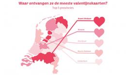 Valentijnspost per provincie